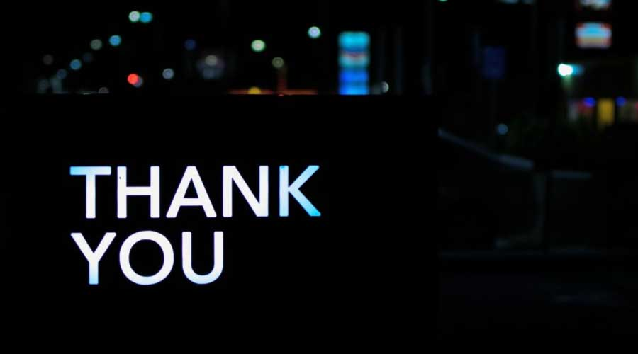 qué es thank you page