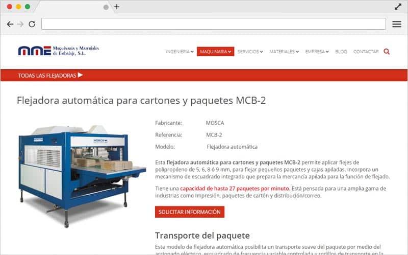 diseño web para sector industrial