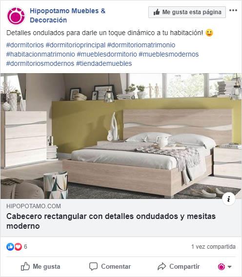 redes sociales para empresa de muebles